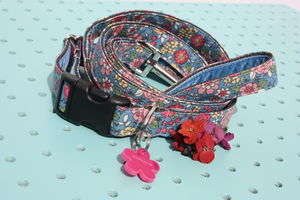 Annie Liberty Style Dog Collar And Lead By Scrufts - dogs