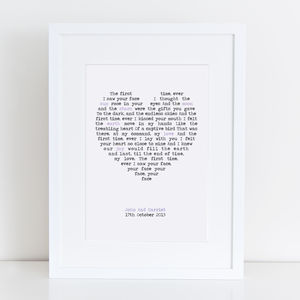 Personalised First Dance Print - typography