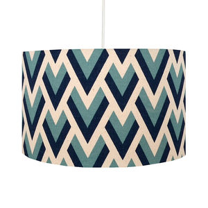 Blue Arrow Geometric Lampshade - office & study