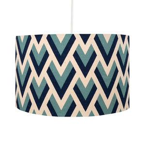 Blue Arrow Geometric Lampshade