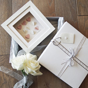 'Hearts' Wedding Card, Gift And Luxury Keepsake - wedding thank you gifts
