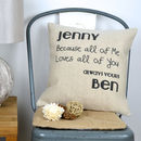 Loving All Of You Couple Cushion Cover