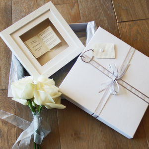 'Book' Wedding Card, Gift And Luxury Keepsake Box