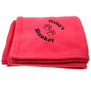 Luxurious Hot Pink Fleece Personalised Pet Blanket - beds & sleeping