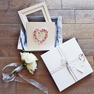 'Butterflies' Wedding Card, Gift And Luxury Keepsake - keepsakes
