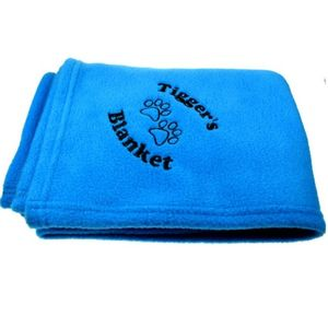 Luxurious Blue Fleece Personalised Pet Blanket