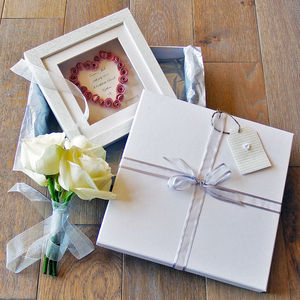 'Rosebud' Wedding Card, Gift And Luxury Keepsake Box - keepsakes