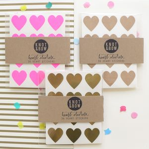 Mini Heart Stickers - diy stationery