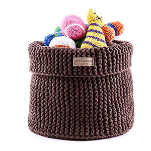Cotton Toy Basket - dogs