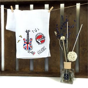 Personalised I Love Rock And Roll Muslin Swaddle - blankets, comforters & throws
