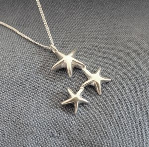 Falling Star Silver Necklace - women's sale