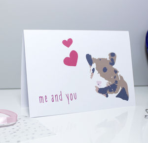 'Me And You' Hamster Card - anniversary cards