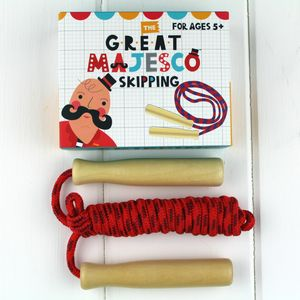 Wooden Handled Skipping Rope - toys & games
