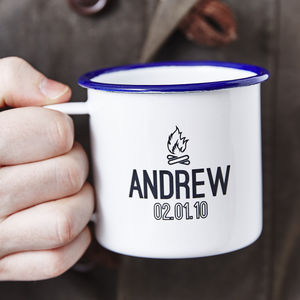 Personalised Enamel Camping Mug - dining room
