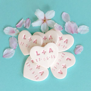 Personalised Ceramic Heart Wedding Favour - wedding favours