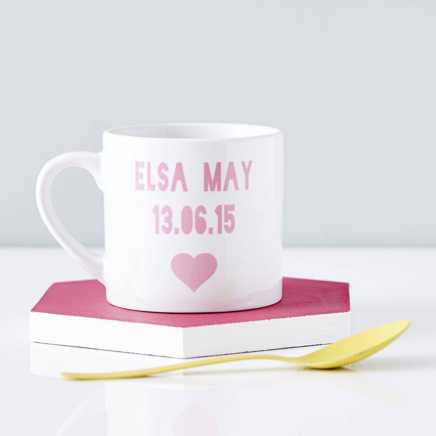 Sophia Victoria Joy Personalised Baby Keepsake Mug