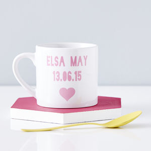 Personalised Baby Keepsake Mug
