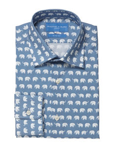 Mens Printed Elephant Shirt - men's fashion