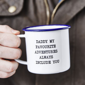 Personalised Message Enamel Mug For Him
