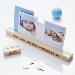Personalised Baby Photo Block - picture frames for children