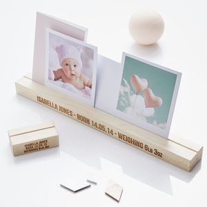 Personalised Baby Girl Photo Block - gifts for new parents