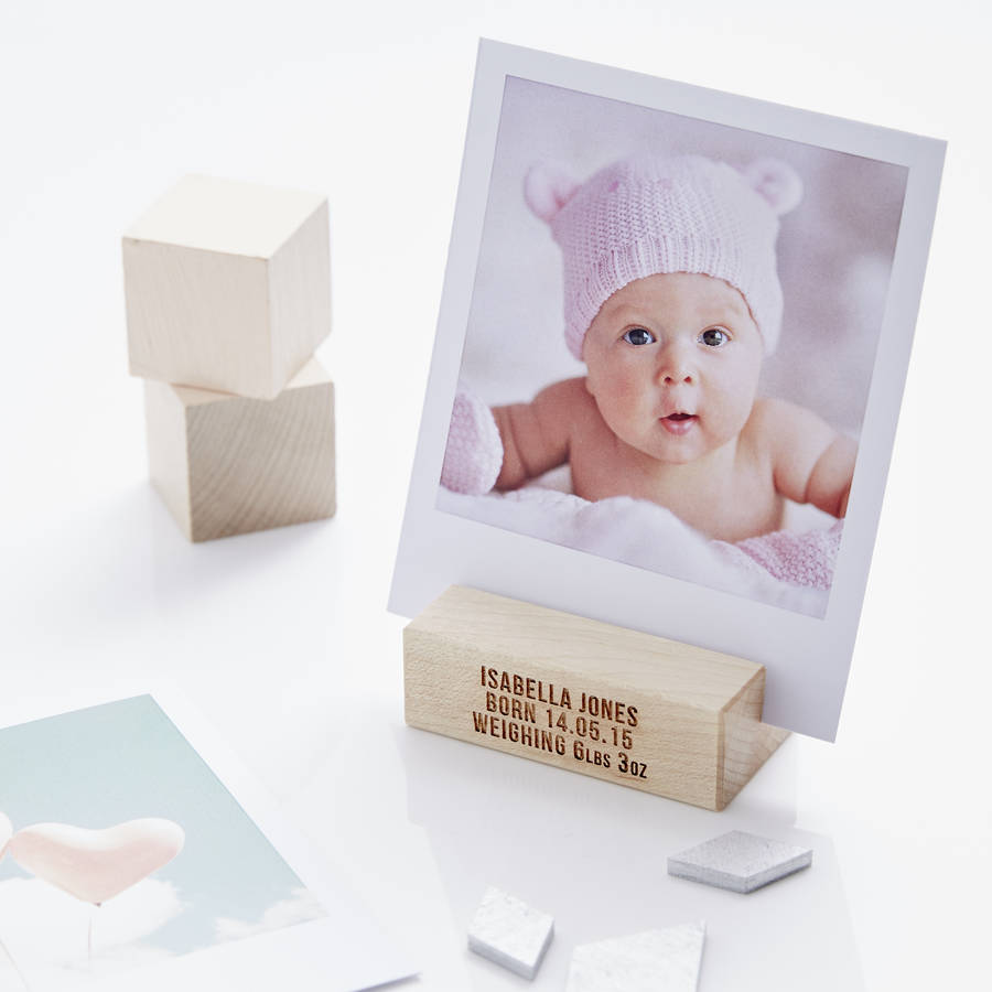 personalised baby girl photo block by sophia victoria joy ...
