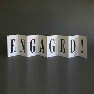 Personalised Engagement Card; Engaged Concertina Card
