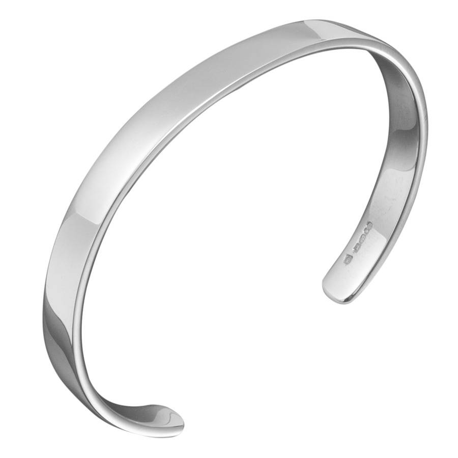 of sterling links silver bangle bangles essentials oval plain image london