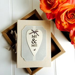 Mr And Mrs Vintage Style Photo Album In Gift Box - albums & guestbooks