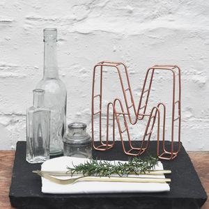 Copper Wire Alphabet Letters - parties