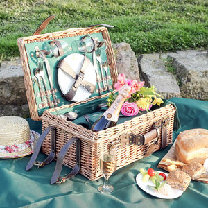 Champs Élysees Ultimate Luxury Two Person Picnic Hamper - camping