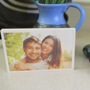 Timbergram Customisable Wooden Photo Block - picture frames