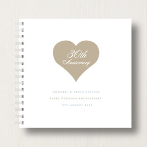 Personalised 30th Pearl Anniversary Album - 30th anniversary: pearl