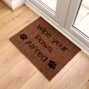 Personalised Pet Name Doormat - food, feeding & treats