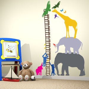 Personalised Safari Height Chart - children's room