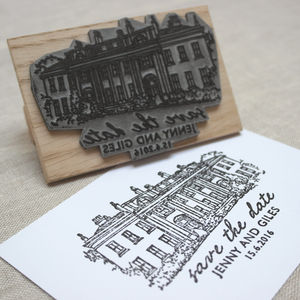 Personalised Wedding Venue Stamp - save the date cards