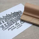 Hand Drawn Wedding Invitations Rubber Stamp