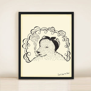 Bear And Headscarf A3 Print - posters & prints for children