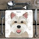 Westie Personalised Dog Placemat/Coaster