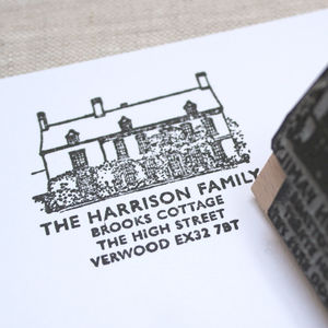 Personalised House Illustration Stamp