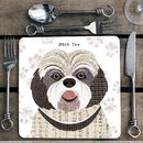 Shih Tzu Personalised Dog Placemat/Coaster