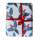 Tropical gift wrap for travelling gift