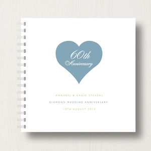 Personalised 60th Diamond Anniversary Album - 60th anniversary: diamond