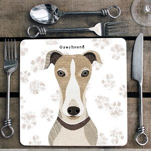 Personalised Greyhound Placemat