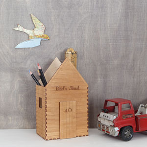Personalised Garden Shed Desk Tidy - gardener