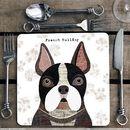 French Bulldog Personalised Dog Placemat/Coaster