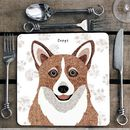 Corgi Personalised Dog Placemat/Coaster
