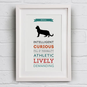 Bengal Cat Breed Traits Print