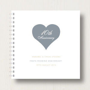 Personalised 10th Tin Anniversary Album
