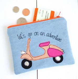 Personalised Scooter Purse - passport & travel card holders